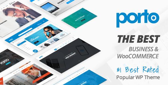 Wordpress原版Porto Woocommerce企业购物商城主题模板源码
