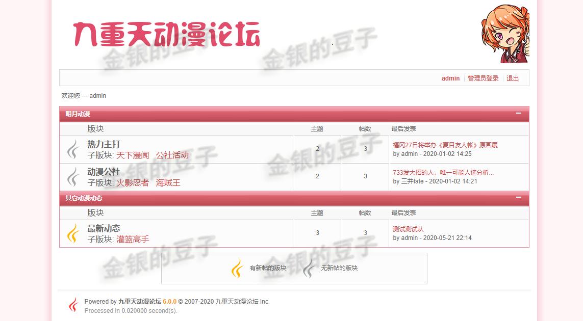 javaweb ssh动漫论坛网站源码论坛项目系统jsp论坛网站前后台系统