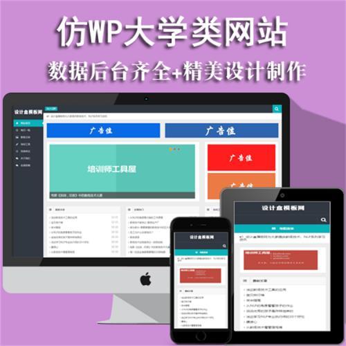 蓝色HTML5自适应仿WP大学个人博客文章小说网站织梦整站源码模板
