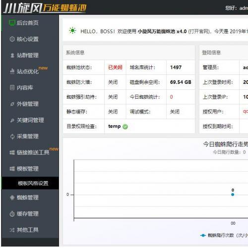 小旋风蜘蛛池x4(原小霸王蜘蛛池)站群系统