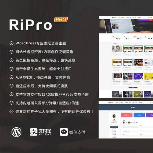 WordPress主题ripro8.7日主题破解版